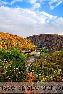 Delaware Water Gap Nationaal Recreatiegebied In De Poconos, Pennsylvania